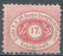 AUSTRIA DDSG DONAU - 1867 - MH/* - Yv 1 Mi 1B PERF 9 1/2 - Lot 11518 UN PEU AMINCI - BAD HINGED - Levant Autrichien