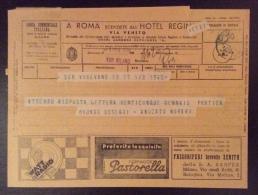 TELEGRAMMA PUBBLICITARIO - MOD.30 - ORD.564 - 5-11-1937 - XVI  -  STAB VALLECCHI FIRENZE - ANNULLO SANTA SOFIA Lineare - Marcophilia