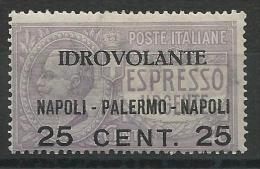 ITALIE - YVERT N° A 2 * - COTE = 20 EUROS - - 1900-44 Victor Emmanuel III