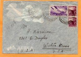 Italy 1947 Cover Mailed To USA - 6. 1946-.. Repubblica