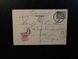 Nijmegen To Antwerpe 1901 Taxe Taxes Belgium Tax Stamp - Periode 1891-1948 (Wilhelmina)