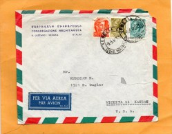 Italy Old Cover Mailed To USA - 6. 1946-.. Repubblica