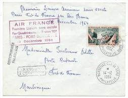 Enveloppe - Premier Vol AIR FRANCE Sans Escale Boeing 707 - PARIS FORT DE FRANCE - 13 Décembre 1964 - First Flight Covers