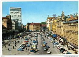 Joegoslavië Zagreb Republic Square -  Gebruikt Used See Stamp 1965 Oude Autos - Kroatien
