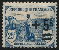 FRANCE 1922 - Yv. 164 *   Cote= 1,40 EUR - Orphelins De Guerre  ..Réf.FRA26668 - Nuovi