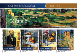 Mld15403a Maldives 2015 Impressionism Painting Paul Cezanne S/s Fruit Flower - Impressionisme