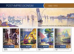 Mld15410a Maldives 2015 Impressionism Painting Paul Signac S/s Ship Cat - Impressionisme