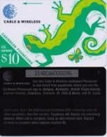CARIBBEAN PHONECARD(GPT) LIZARD ,214BCAA-USED-RR(1) - Phonecards