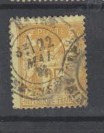 Yvert 92 Belle Oblitération - 1876-1898 Sage (Type II)