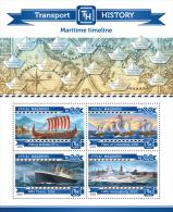 mld15205a Maldives 2015 Transport History Maritime Timeline Ship Titanic Christopher Columbus