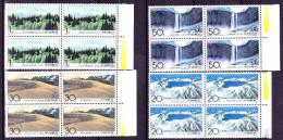 CHINE    CHINA 1993   Géologie   Monts Changbai    San Moutains    4 X 4v - Neufs
