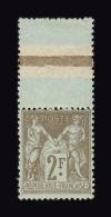 FRANCE N° 105 ** 2f Bistre Sur Azuré Type Sage. Très Bon Centrage. Bord De Feuille. Grande Fraîcheur. TTB - 1876-1878 Sage (Type I)