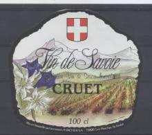 THEME FLEUR étiquette De Vin SAVOIE CRUET EDELWEISS GENTIANE - Edelweiss