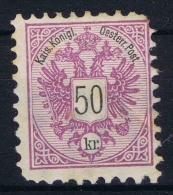 Osterreich - 1883  Mi nr 49 A  MH/*  has a fold