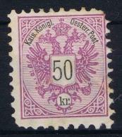 Osterreich - 1883  Mi Nr 49 A  MH/*  Has A Fold - 1850-1918 Imperium