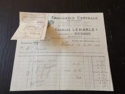 Emaillerie Centrale Charles Leharle Succ Dunois Enseignes Plaques Rues Thermomètres Réflecteurs 1917 - Chemist's (drugstore) & Perfumery