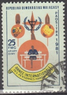 Madagascar, 1981 - 25fr Year Of The Disabled - Nr.615 Usato° - Madagascar (1960-...)