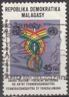 Madagascar, 1981 - 45fr 13th World Telecommunications Day - Nr.618 Usato° - Madagascar (1960-...)