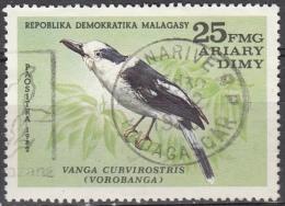 Madagascar , 1982 - 25fr Vanga Curvirostris - Nr.631 Usato° - Madagascar (1960-...)