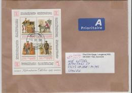 änemark -  XX003 / HAFNIA 87, Blockfrankatur Nach Spanien - Briefe U. Dokumente
