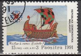 Madagascar, 1991 - 15fr Ship - Nr.1014 Usato° - Madagascar (1960-...)