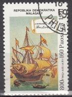 Madagascar, 1991 - 800fr Caravel Amsterdam - Nr.1019 Usato° - Madagascar (1960-...)