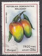Madagascar, 1992 - 1400fr Mangoes - Nr.1070 Usato° - Madagascar (1960-...)