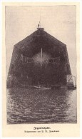 Original Zeitungsausschnitt - 1911 -  Zeppelinhalle , Zeppelin , Luftschiff !!! - Fliegerei