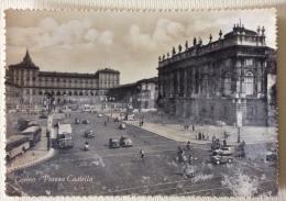 Torino Piazza Castello Non Viaggiata Anni 40 ( Segni Di Usura ) - Places & Squares