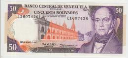 Venezuela 50 Bolivares 1977 Pick 54d UNC - Venezuela