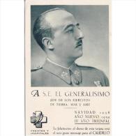MLTTP0507A-LFTD10058TMIPA.Tarjeta Postal Militar.Frente Y Hospitales.GENERAL FRANCO 1936,CON CENSURA - Patrióticos