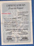 Petite affiche ancienne sign�e aux coins bas - Emprunt Africain pour la France - Pendant la 2nde Guerre Mondiale - WW2