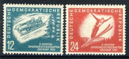 """1951 Germany DDR MNH set of 2 Stamps  """" Winter Sports """" Michel 280-281"""