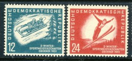 """1951 Germany DDR MNH set of 2 Stamps  """" Winter Sports """" Michel 280-281 # 2"""