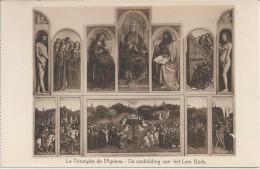 BE. . Gand. Cathedrale Saint Bavon -- Le Triomphe De L'Agneau. Gent. De Aanbidding Van Het Lam Gods. Devotie. 2 Scans. - Museum
