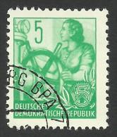 DDR, 5 pf. 1957, Sc # 156, Mi # 363N, used