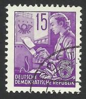 DDR, 15 pf. 1957, Sc # 161, Mi # 368N, used