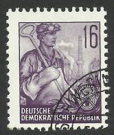 DDR, 16 pf. 1957, Sc # 162, Mi # 369N, used