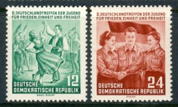 """1954 Germany DDR MNH set of 2 Stamps  """" Youth Meeting """" Michel 428-429"""