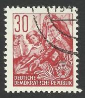 DDR, 30 pf. 1957, Sc # 165, Mi # 373N, used