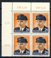 """1954 Germany DDR MNH complete set of 1 Stamp in corner block of 4   """" Thaelmann """" Michel 432"""
