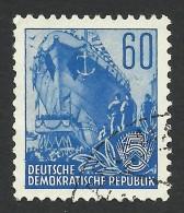 DDR, 60 pf. 1957, Sc # 169, Mi # 377N, used