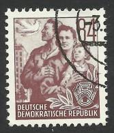DDR, 84 pf. 1957, Sc # 171, Mi # 379N, used
