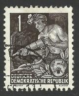 DDR, 1 pf. 1953, Sc # 187, Mi # 405, used