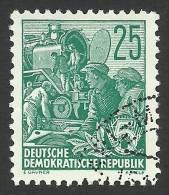 DDR, 25 pf. 1953, Sc # 197, Mi # 415, used
