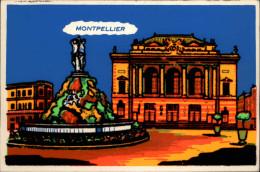 34 - MONTPELLIER - Carte Fantaisie - Carte Velour - Montpellier
