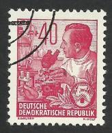 DDR, 40 pf. 1954, Sc # 200, Mi # 418, used