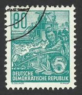 DDR, 80 pf. 1953, Sc # 203, Mi # 421, used