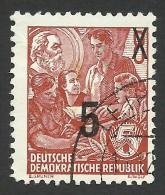 DDR, 5 pf. on 8 pf. 1954, Sc # 217, Mi # 436, used