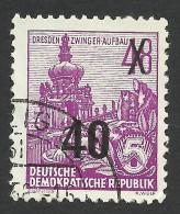 DDR, 40 pf. on 48 pf. 1954, Sc # 221, Mi # 440, used